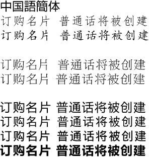 中国語、簡体文字